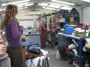 Inside the potting shed