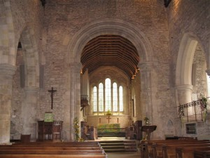 The interior of Bosham church