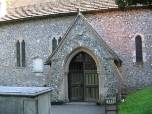 The entrance to Findon Church