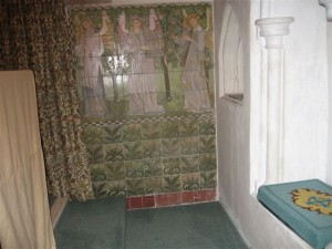 Some of the William Morris tiles in the church